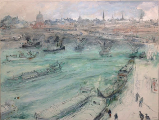 Jean FUSARO - Pintura - Paris, La Seine