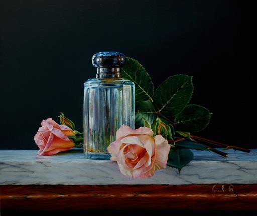 Riccardo GIRAUDO - Gemälde - Rose con vetro