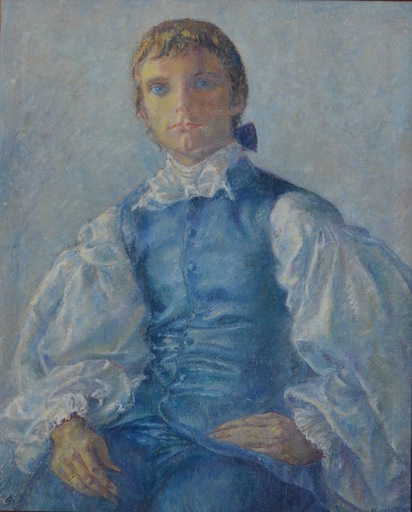 Clara KLINGHOFFER - Pintura - Portrait of Keir Dullea as the Marquis de Sade