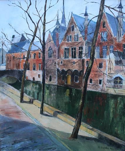 Monique DEVALOIS - Peinture - Bruges en Hiver