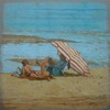 Carlos ESTEBAN (1938) - La plage à Honfleur 1