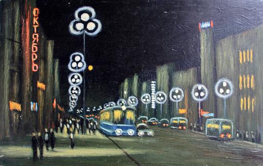 """Valeriy NESTEROV - Painting - """"Octiabr"""" cinema. Leningrad"""
