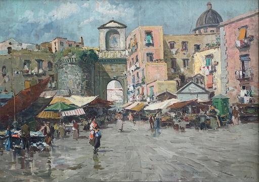 Gustavo PISANI - Pintura - Mercato a Porta Capuana, Napoli