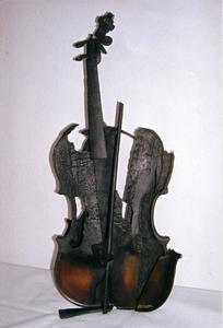 Fernandez ARMAN - Escultura - Violino bruciato