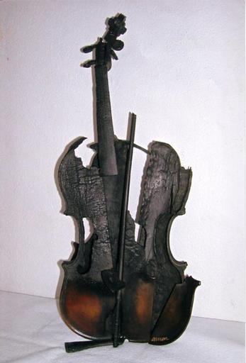 Fernandez ARMAN - Scultura Volume - Violino bruciato