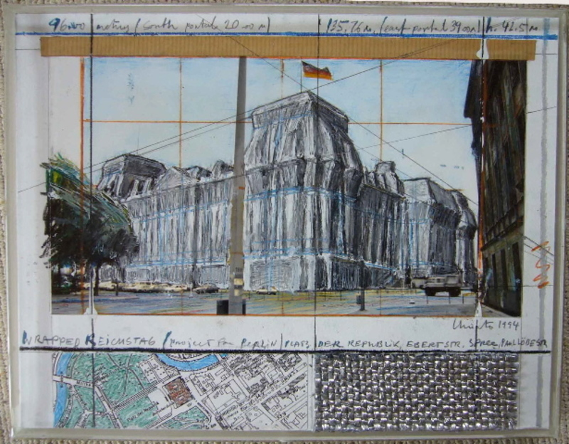 CHRISTO - Peinture - Wrapped Reichstag Berlin