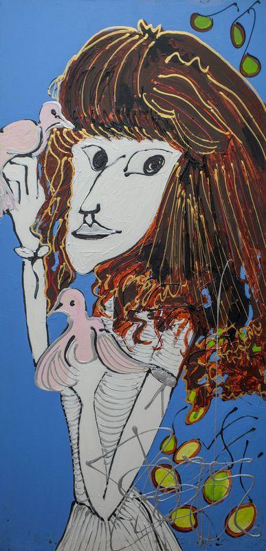 Isa SATOR - Painting - Patti Smith    (Cat N° 6757)
