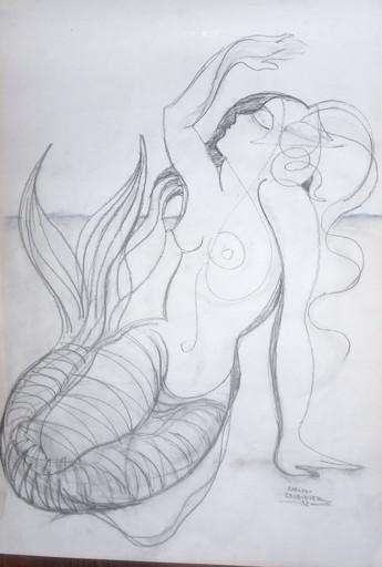 Carlos CRUZ-DIEZ - Zeichnung Aquarell - sans titre
