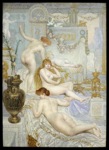 Adolphe LALIRE - Painting - Eros