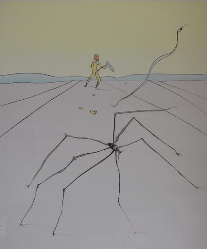 萨尔瓦多·达利 - 版画 - Kumo – The Weave Spider, from: Japanese Fairy Tales