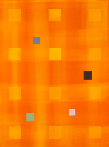 Milly RISTVEDT - Painting - Yellow Orange Grid