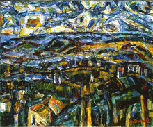 Auguste DUREL - Painting - fin de journée en Provence (N°9)