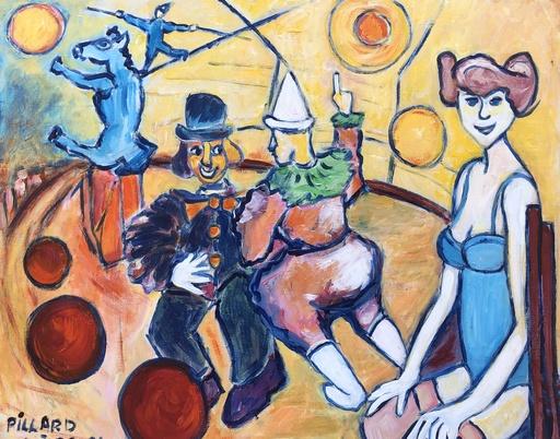 Valère PILLARD - Pittura - Le cirque