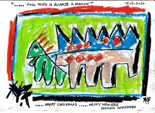 Harry BARTLETT FENNEY - Drawing-Watercolor - seasons greetings #3 (2020)