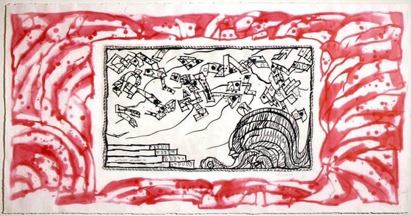 Pierre alechinsky la m moire volatile oeuvres de la place for Alechinsky oeuvres