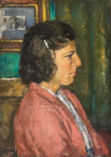 Ardengo SOFFICI - Peinture - Lidia