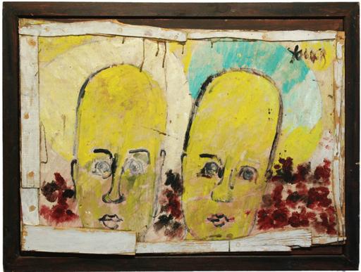 珀维斯·扬 - 绘画 - Two Angel Portraits