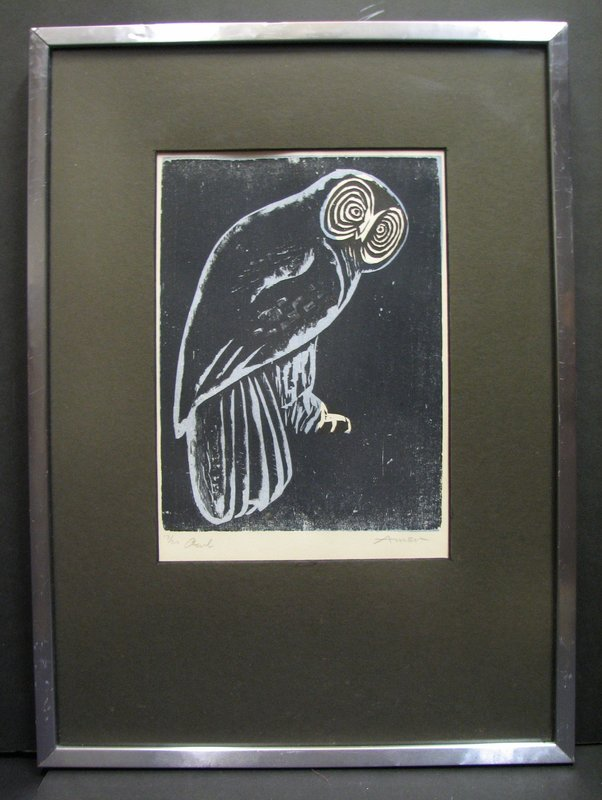 Irving AMEN - Druckgrafik-Multiple - Owl