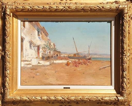 Joan ROIG Y SOLER - Painting - Paisaje costero