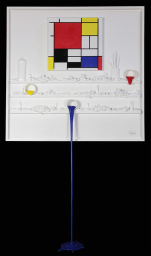 Paul SIBUET - Sculpture-Volume - FLOW 111 Hommage à Mondrian