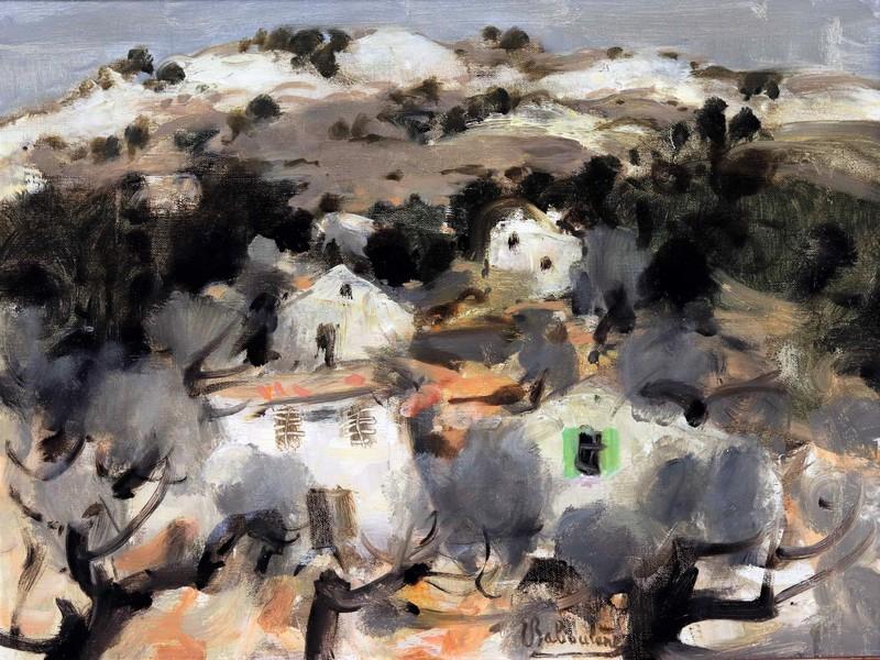 Eugène BABOULENE - Pittura - Paysage aux oliviers