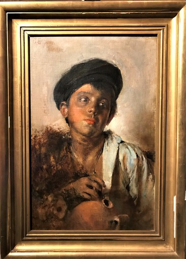 Gaetano ESPOSITO - Pintura - Portrait of a boy