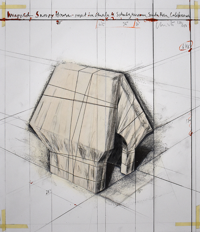 CHRISTO - Estampe-Multiple - Wrapped Snoopy House