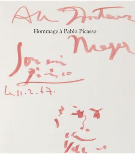 Pablo PICASSO - Drawing-Watercolor - Hommage à Pablo Picasso : Au Docteur Meyer