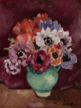 路易斯·瓦尔塔 - 绘画 - Bouquet dans un vase