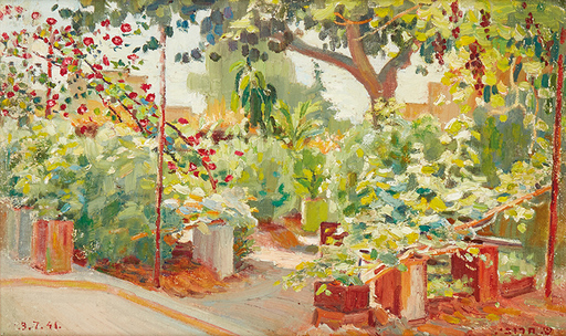 Shmuel CHARUVI - Peinture - The Artists' Garden