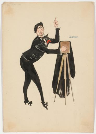 "Rudolf HAFNER - 水彩作品 - ""Cameraman - Stage costume design"" watercolor, 1920s"