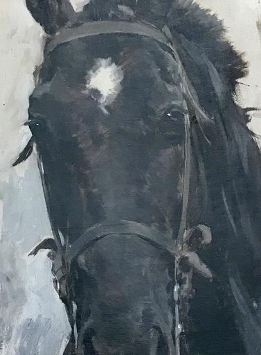 Ulpiano CHECA Y SANZ - Gemälde - Cheval  du Général  MITRE – Argentine - Argentina