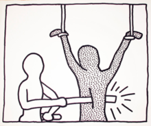 "Keith HARING - Estampe-Multiple - Number 7 from ""The Blueprint Drawings"""