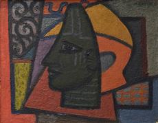 Mark GERTLER - Painting - Benin Head