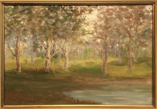 Nicola LAURENTI - Pintura - Paesaggio allo stagno