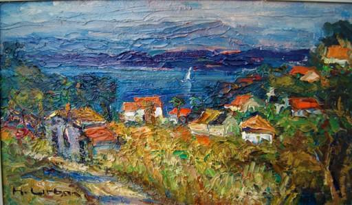 Harry URBAN - Painting - Paysage méditerranéen. Les oursinières, le Pradet Var