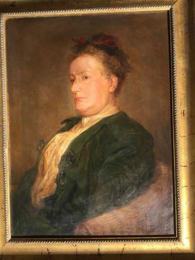 Karl JOBST - Painting - Frauportraet