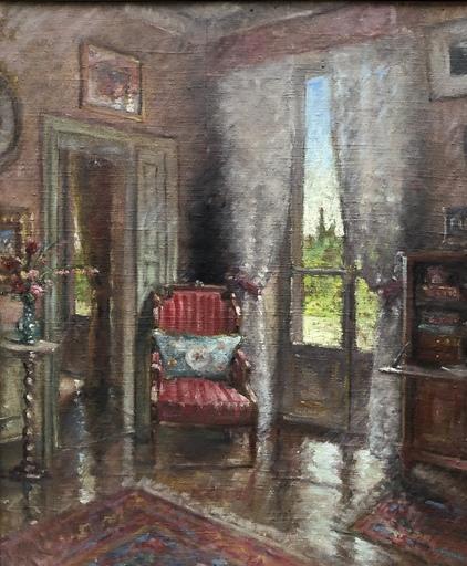 Paul François Marie URTIN - Peinture - Scène d'intérieur