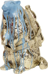 William SWEETLOVE - Estampe-Multiple - Cloned bronze marmot with bottle
