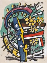 Fernand LÉGER - Drawing-Watercolor - Objets brisés
