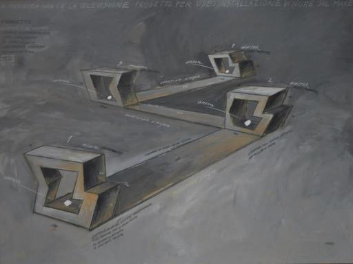Fabrizio PLESSI - Pintura - A panarea non c'è la televisione