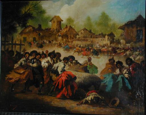 Eugenio LUCAS Y VILLAAMIL - Peinture - CORRIDA DE TOROS