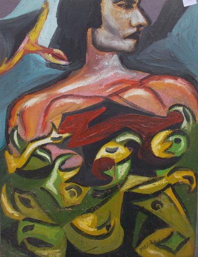 Edgar MELIK - Pittura - Femmes aux fleurs