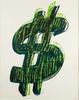 Andy WARHOL - Stampa-Multiplo - Dollar Sign, Green (FS II.280)