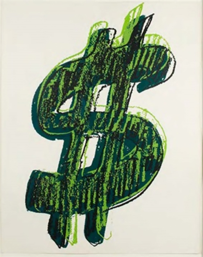 Andy WARHOL - Stampa-Multiplo - Dollar Sign, Green (FS II.280)