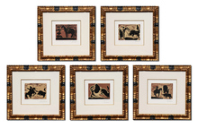 Pablo PICASSO (1881-1973) - Bullfight Linocut Suite (B. 942 - 946)
