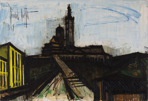 Bernard BUFFET - Gemälde - Marseille, Notre Dame de la Garde