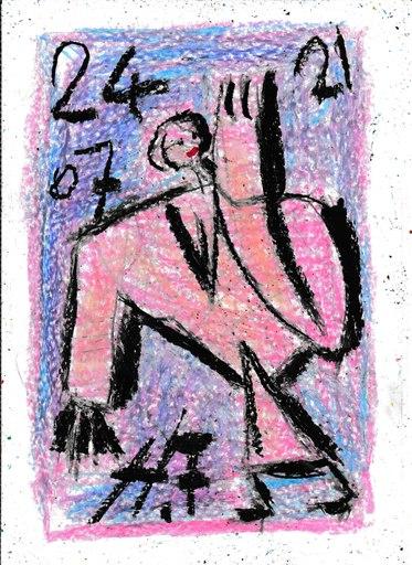 Harry BARTLETT FENNEY - Drawing-Watercolor - shoulders street style 1 (24 07 21)