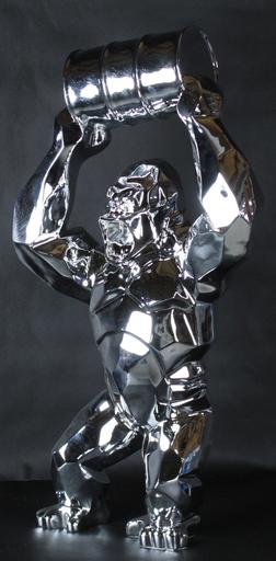 Richard ORLINSKI - Escultura - WILD KONG AU BIDON CHROME