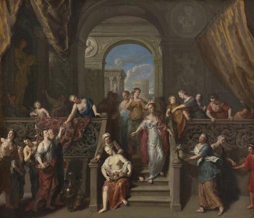 Gerard I HOET - Painting - La Fête de Pomone